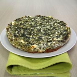 Ένα αλλιώτικο cheesecake με σπανάκι...