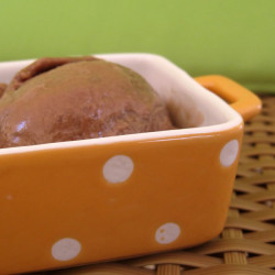 Παγωτό nutella για τα εγκαίνια της παγωτομηχανή...