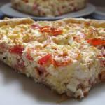Χωριάτικη τάρτα με τυριά και λαχανικά