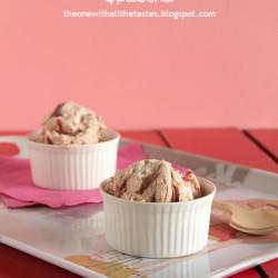 Παγωτό cheesecake φράουλα