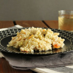 Ρύζι με λαχανικά και κεφαλοτύρι στο φούρνο