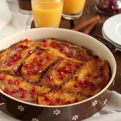 Γλυκό τοστ με τσουρέκι, πορτοκάλι και ρόδι...