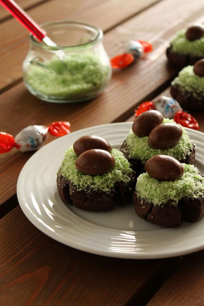 Πασχαλινά μπισκότα φωλίτσες