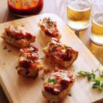 Πίτσα σε μπαγκέτα με κοτόπουλο και σάλτσα μπάρμπεκιου