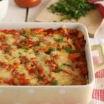 Ελαφριά μεξικάνικα «λαζάνια» τορτίγιας με λαχανικά