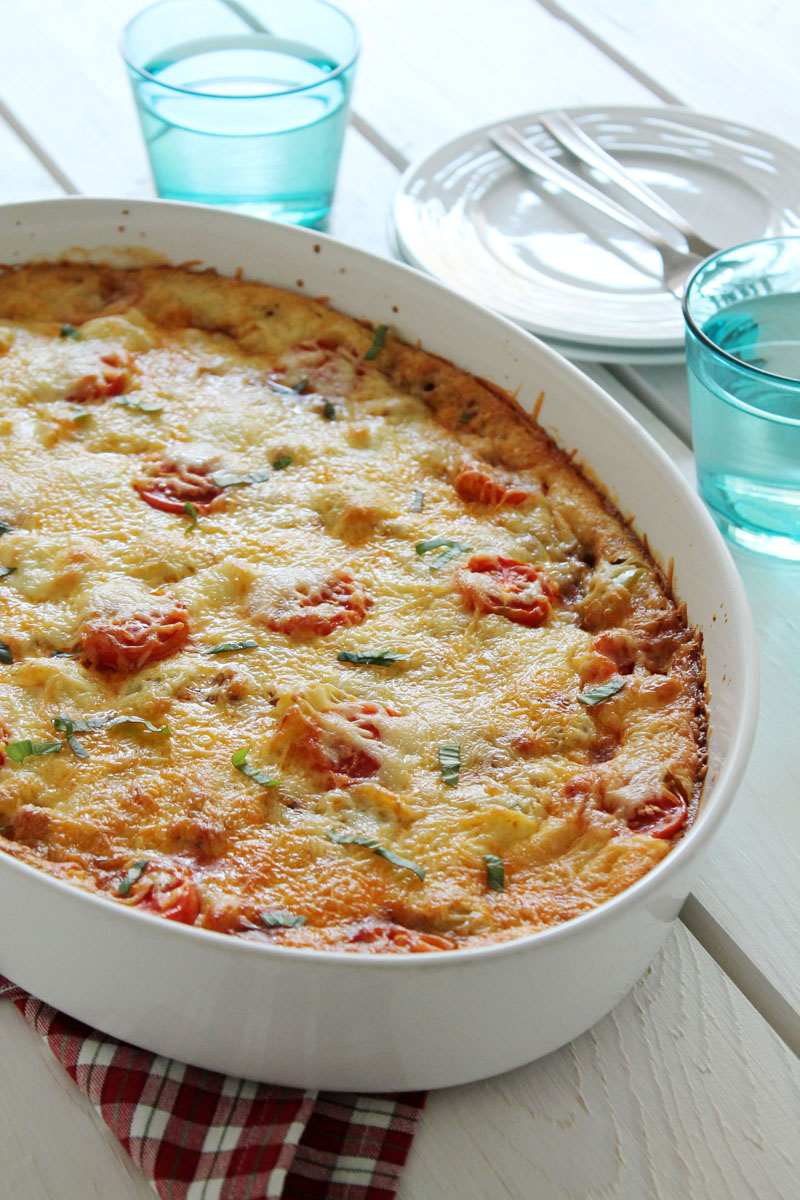 Ground beef pizza casserole