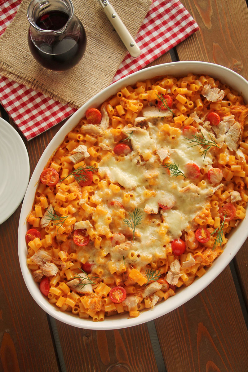 chicken-mozzarella-elbow-pasta