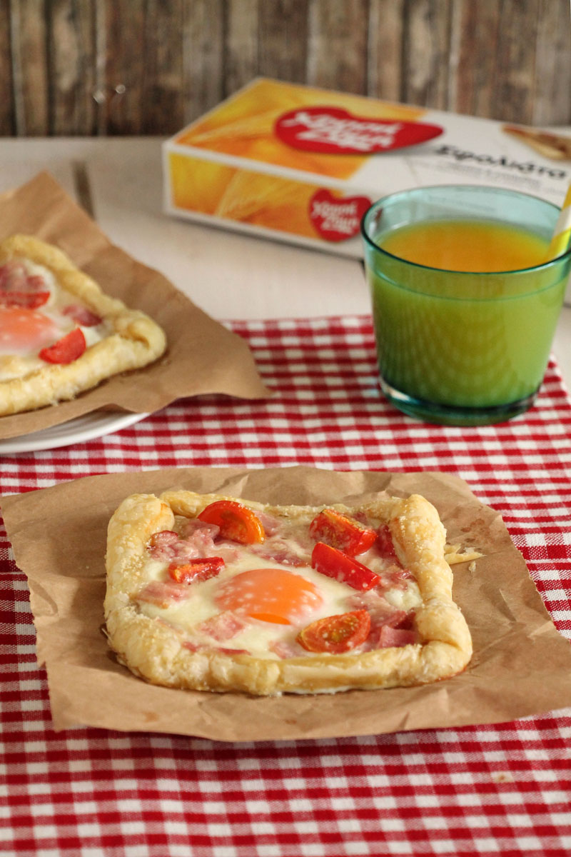 πίτες με αυγά και μπέικον