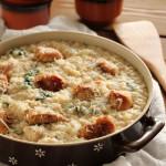 Τραχανότο με κοτόπουλο και σπανάκι