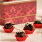 Τρουφάκια με σοκολάτα, nutella και φουντούκι