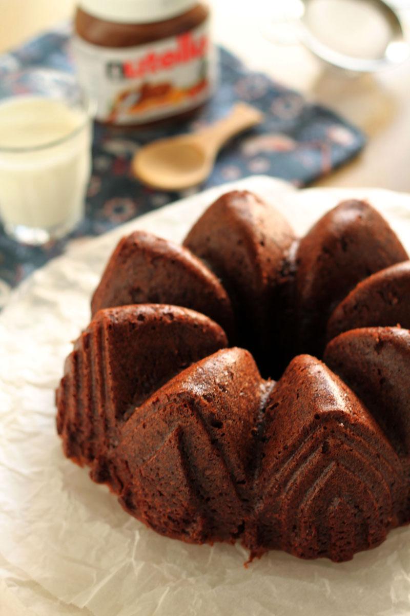 Banana-nutella-cake