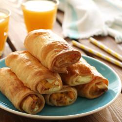 Ρολάκια με αυγά, μπέικον και τυρί κρέμα...