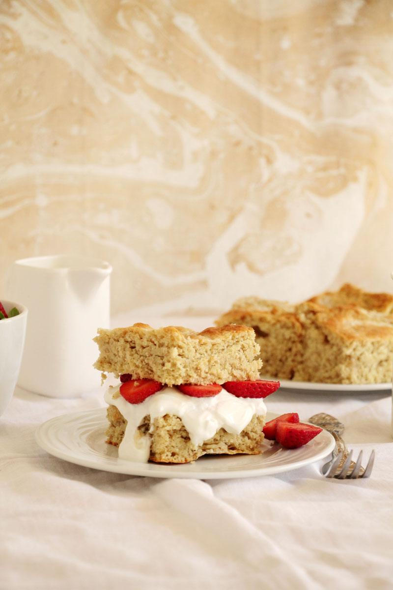Shortcakes με φράουλες
