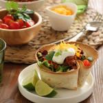 Μεξικάνικη σαλάτα με κιμά σε φωλιές από τορτίγια
