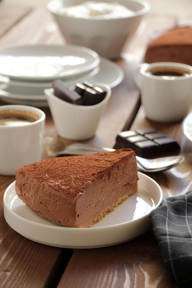 Cheesecake με σοκολάτα και εσπρέσο