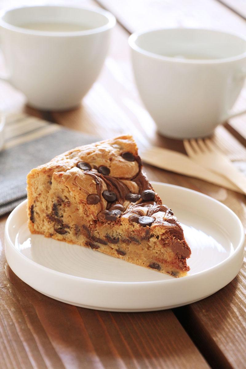 Πίτα μπισκότου με nutella και σοκολάτα