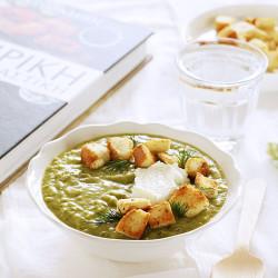 Σούπα κρέμα από αρακά και giveaway «Μαγειρική &...