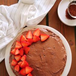 Νηστίσιμη σοκολατένια τούρτα για τη μαμά...