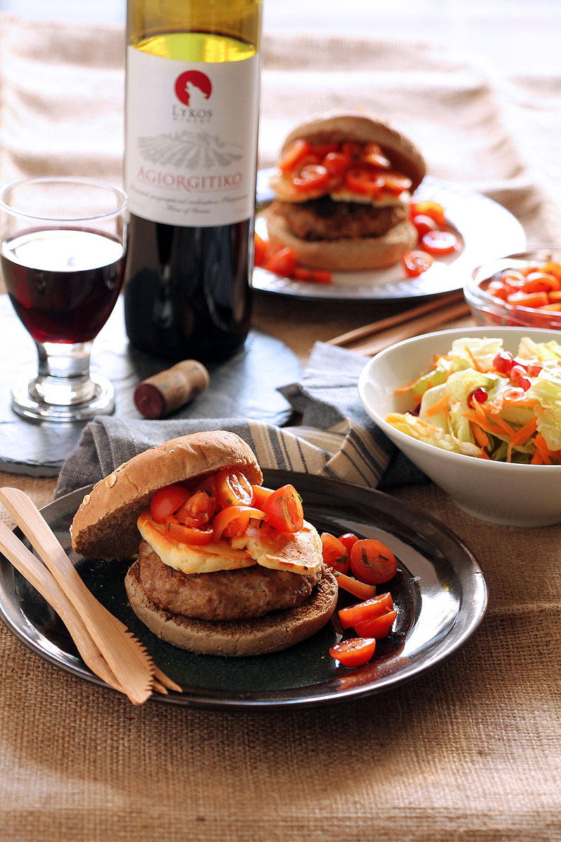 haloumi-cherry-tomato-burger