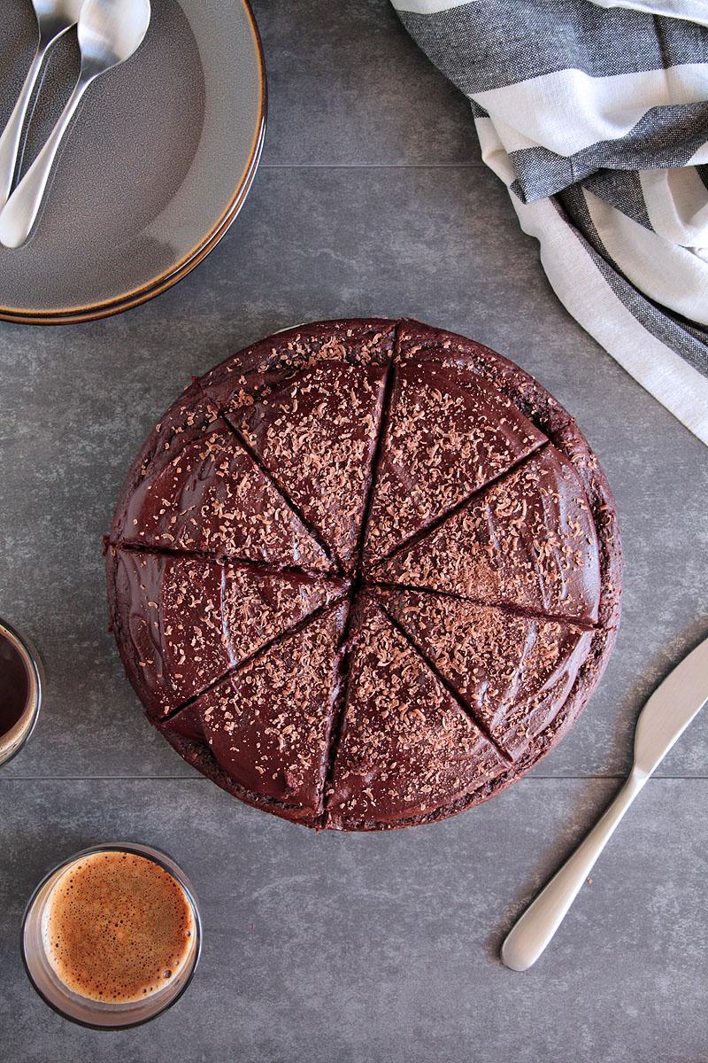 σοκολατένιο κέικ με μπανάνα