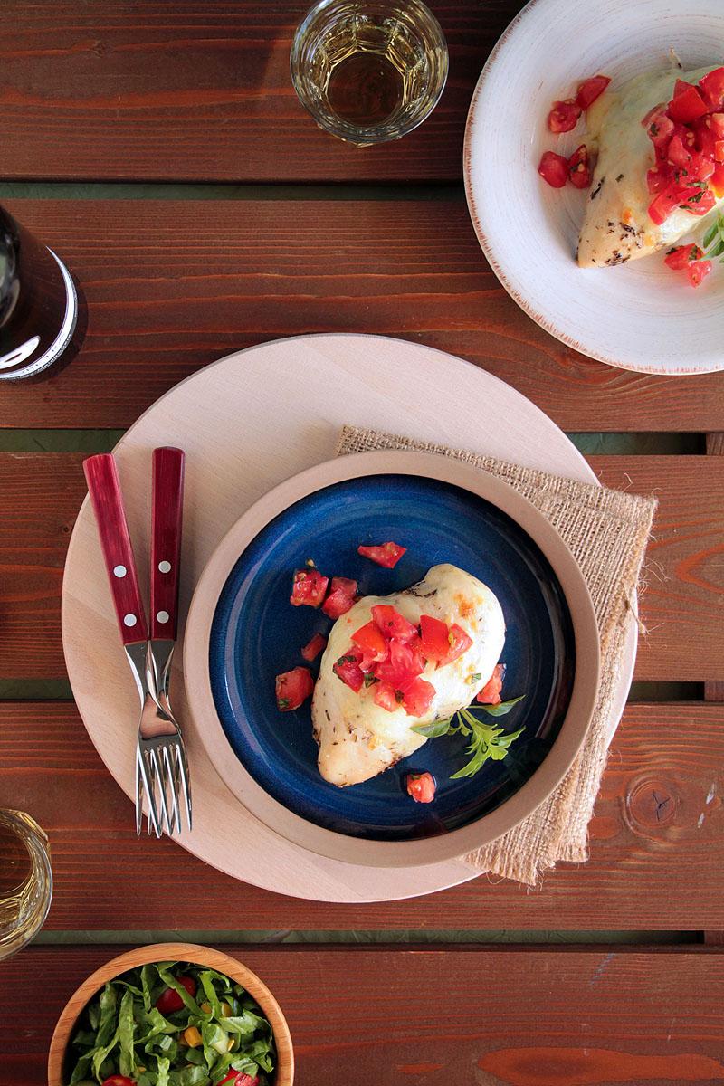 μπρουσκέτα με κοτόπουλο | theonewithallthetastes.com