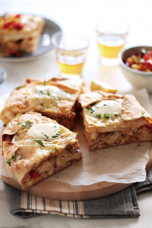 Πίτα fajitas με κοτόπουλο