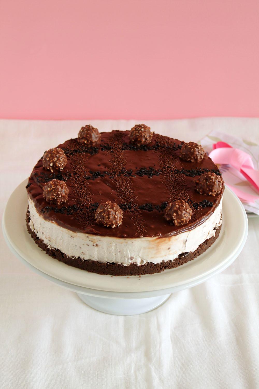 Cheesecake με ferrero rocher