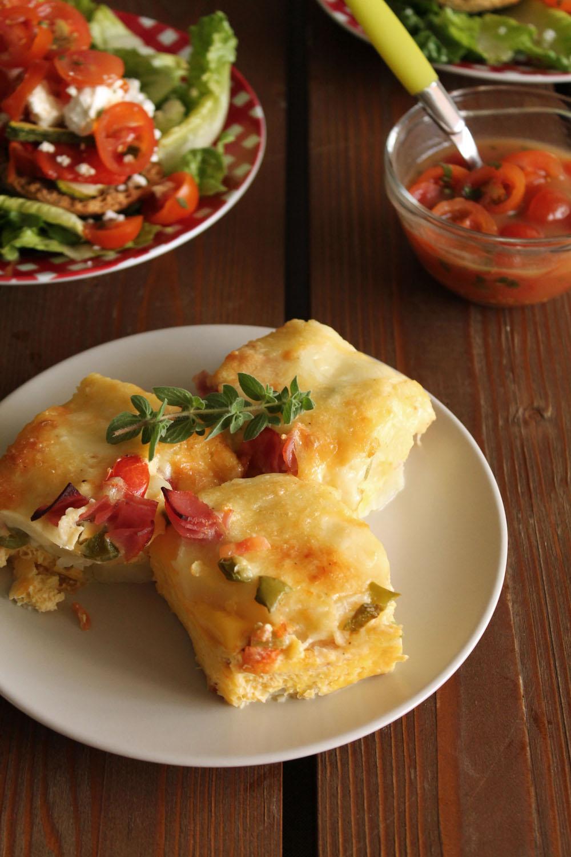 Ομελέτα με τυριά και λαχανικά