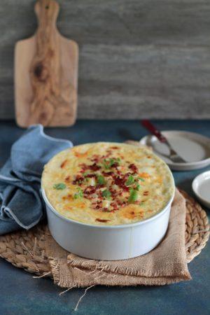 Πατάτες ογκρατέν με τυρί κρέμα και μπέικον (3)